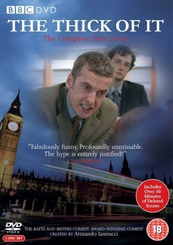 The Thick of It (2005-2012; UK - BBC; Peter Capaldi, Chris Addison) -- This is a veritable gold mine of creative cursing. There is also some stuff about politics. Capaldi is about to bite someone's head off.