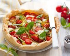 Tarte tomates-courgettes (facile, rapide) - Une recette CuisineAZ