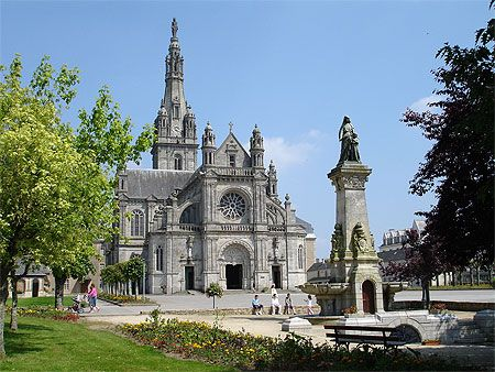 Auray ~ Brittany ~ France ~ The Basilica of Saint Anne d'Auray was built in the mid-nineteenth century to replace an earlier church which had housed an ancient statue of Anne.