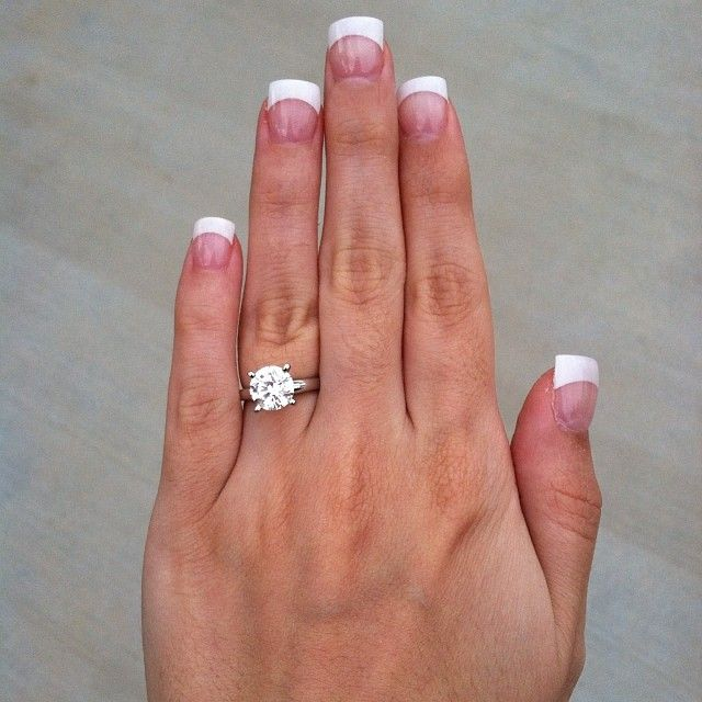 My beautiful engagement ring 2 carat solitaire diamond on a white gold band