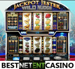 Play for free the Jackpot Jester Wild Nudge video slot by NYX