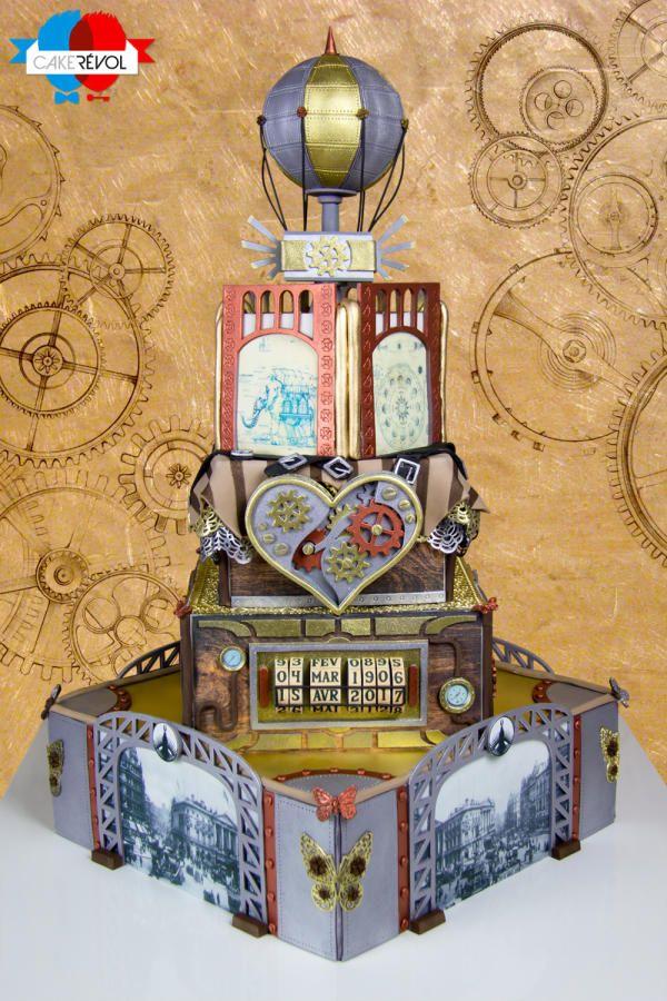Steampunk Wedding / Steam Cakes - A Steampunk Collaboration - Cake by CAKE RÉVOL