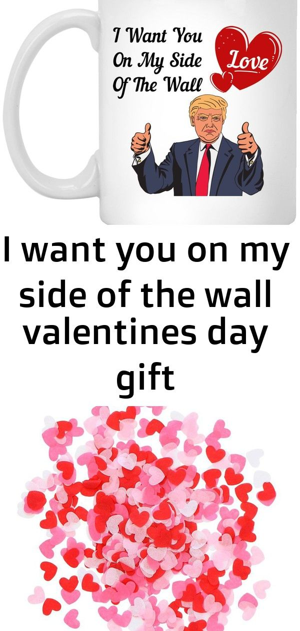 I Want You On My Side Of The Wall Valentines Day Gift Coffee Mug