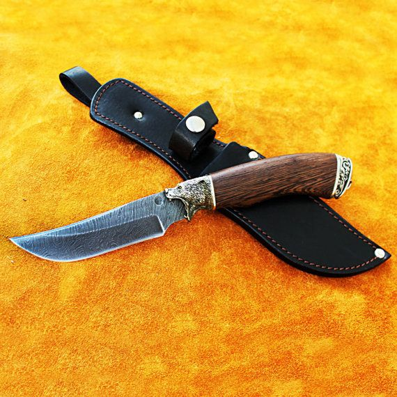 Damascus hunting knives Custom hunting knives Handmade by MrDagger