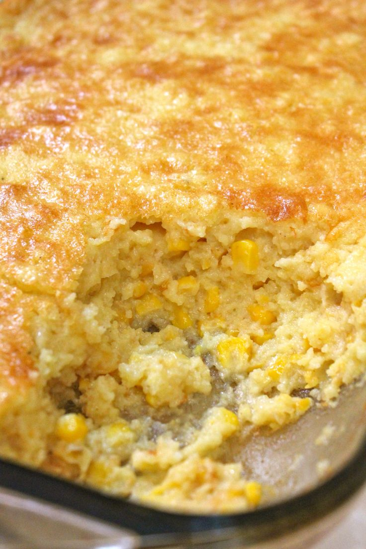 How to make Creamy Southern Corn Pudding. The perfect side dish for any holiday!