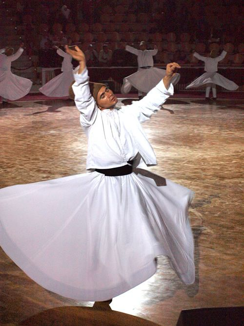 """Whirling Dervish dancing in Istanbul from """"A Guide to Living in Istanbul """""""