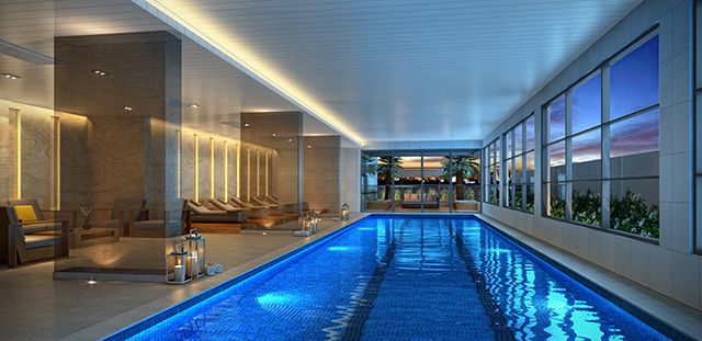 58 best hotel design images on pinterest architects for Piscina coberta