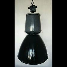 XXL FACTORY ANTIQUE INDUSTRIAL VINTAGE MIDCENTURY FACTORY  LAMP LIGHT FIXTURE