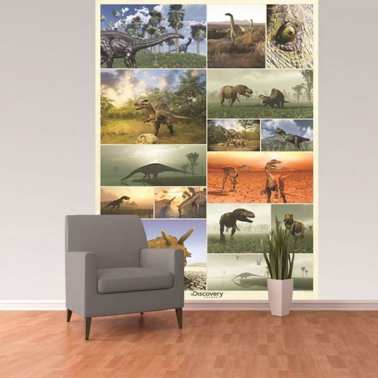 Discovery Channel Dinosaur Mural 232cm x 158cm Create an instant feature in any room with this stunning Discovery ChannelDinosaurWall Mural! The colourful mural is printed onto high quality paper to ensure a fantastic finish. The mural features an awesome collection of dinosaurs and is a contemporary and stylish way to add a dinosaur theme to any room. For best results, treat the mural as conventional wallpaper and follow the simple instructions included.  Official Discovery Channel…