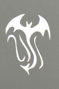 Stargazer - Tattoo Schablone - Fledermaus Tribal