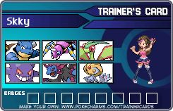 My trainer card with my favorite Pokemon! Comment with your Dream Team, it doesn't have to be unbeatable, just your favorites! Make yours here: http://pokecharms.com/trainer-card-maker/