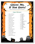 """Everything Halloween A-Z"" Game - Adult Halloween Games, Kids Halloween Games, Printable Halloween Games"