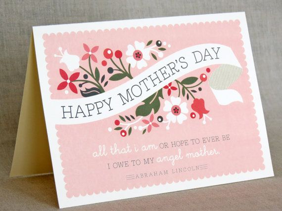 Such pretty printable Mother's Day cards from Etsy's Paper and Pip