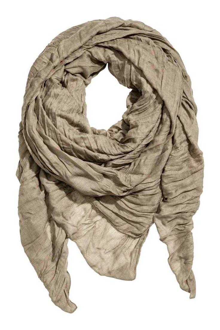 Grote sjaal - Lichtkaki - DAMES   H&M BE
