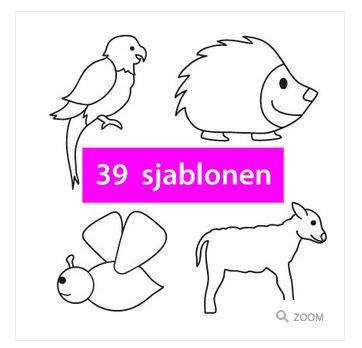 Sjablonenfeest – Dieren [Download] - http://onderwijsstudio.nl/product-categorie/sjablonenfeest/