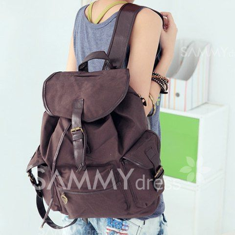 $10.69 Korean Style Casual Women's Satchel With Color Matching and Canvas Design