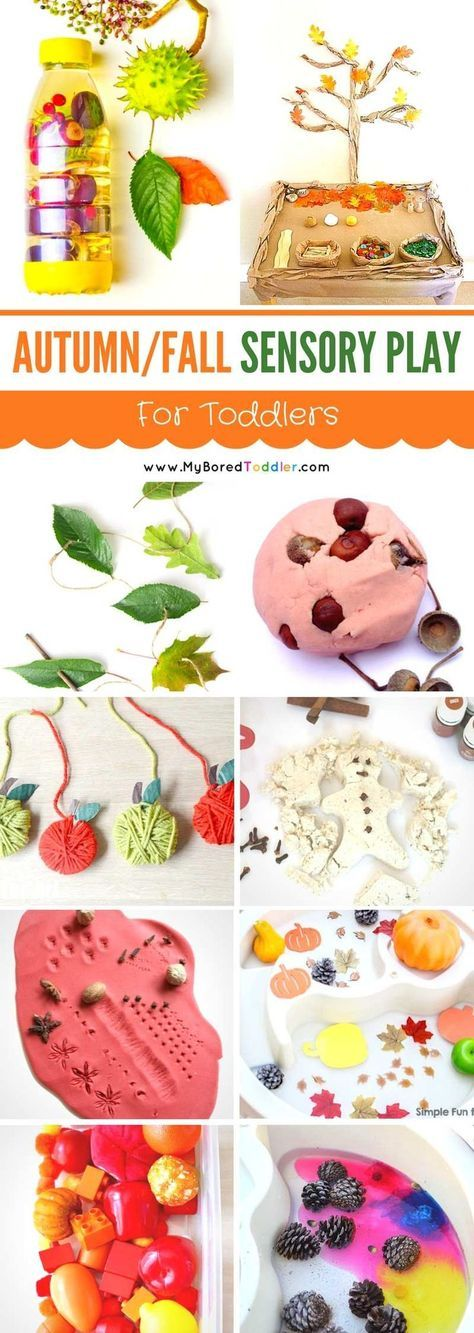 autumn and fall sensory play for toddlers pinterest