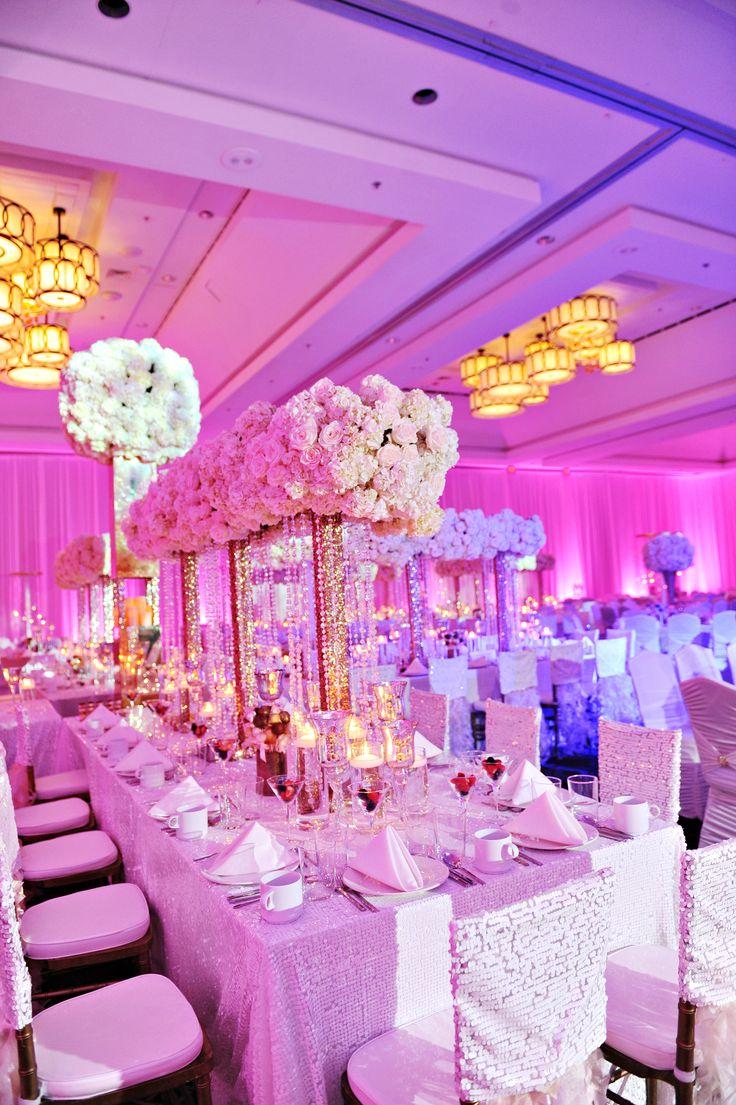 Wedding Tablescape Design W/ Different Colored Lighting | Wink Design U0026  Events
