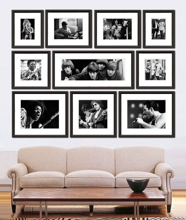 Photo arrangement love this photo display with simple black frames and white mattes i enjoy how everything creates a square shape as a whole