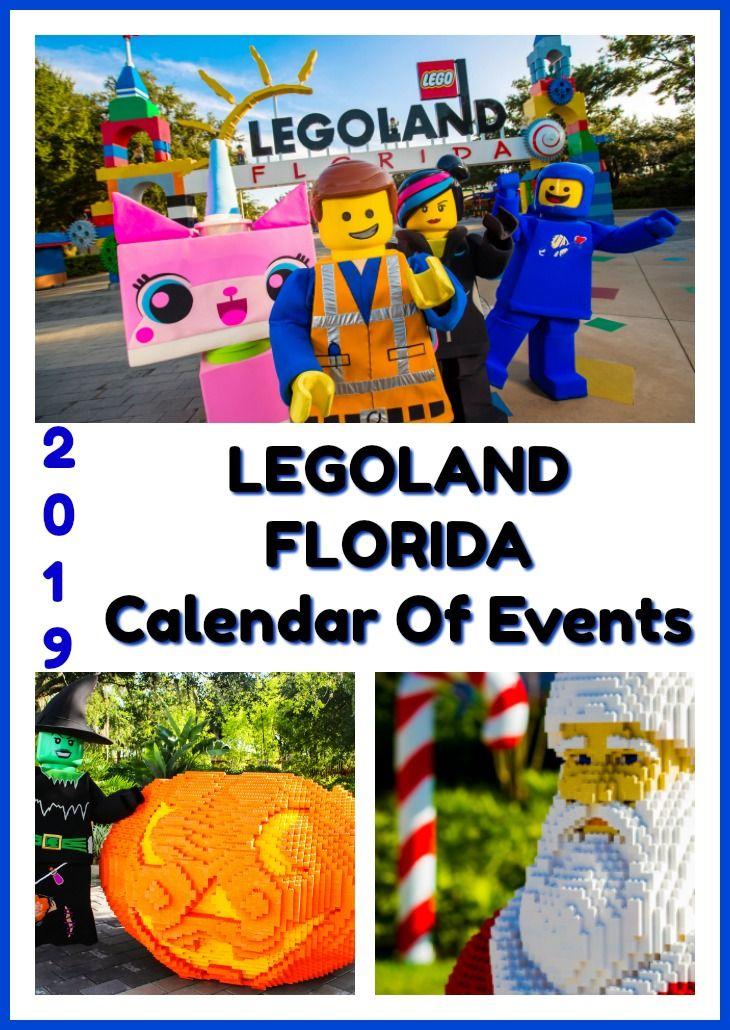 Florida Calendar Of Events 2019 2019 LEGOLAND Florida Calendar of Events | Tampa Bay Area Family