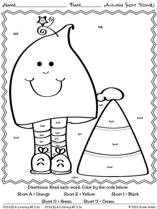 short vowels coloring pages - photo#30