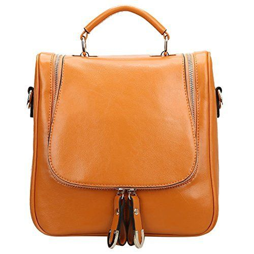 New Trending Backpacks: S ZONE Ladies Small Leather Cross Body Handbag Backpack Earth Yellow. S ZONE Ladies Small Leather Cross Body Handbag Backpack Earth Yellow  Special Offer: $49.99  388 Reviews This fashion satchel is made of high quality oil wax split cow leather. It is perfect for ladies to use wherever they roam. The leather backpack features an interior with silky...