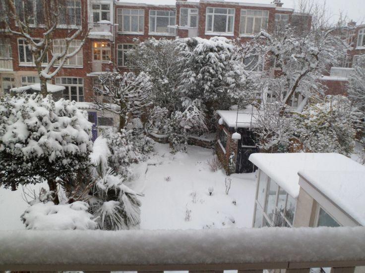 Tuin Peter en Jo met sneeuw