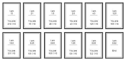 Follow Me Cards covering mental calculations and time. Suitable for use as a Warm Up Activity.