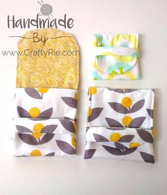Easy to sew handy pouches.
