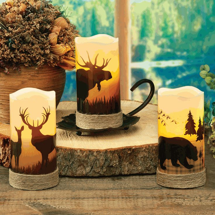 Wildlife LED Candles
