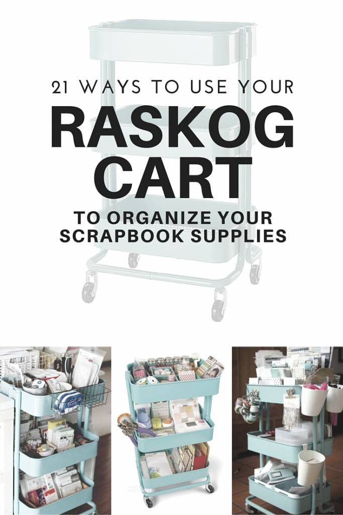21 Ways to Use A Raskog Cart To Organize Scrapbook Supplies – Scrap Booking