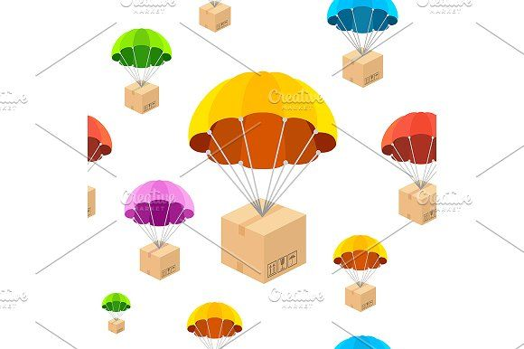 Parachute Seamless Pattern In 2020 Seamless Patterns Web App Design App Design