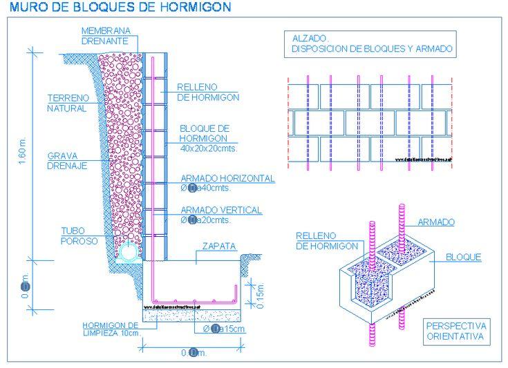 M s de 25 ideas incre bles sobre muro de contenci n de - Bloques para muros ...