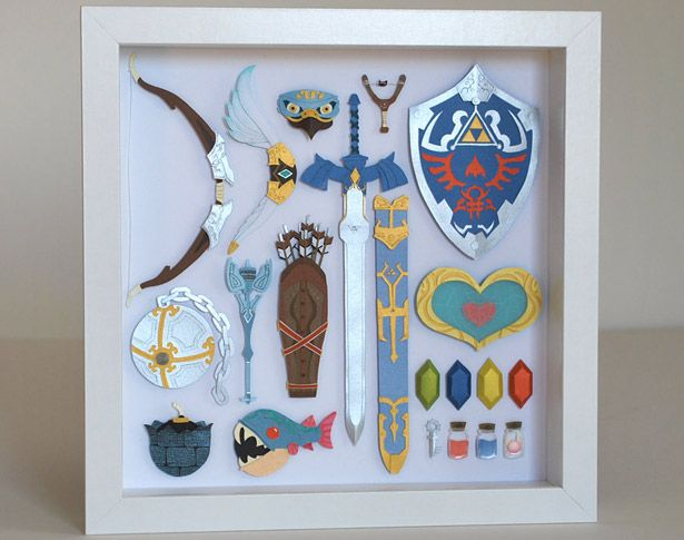 Esculturas en papel de Legend of Zelda: Twilight Princess