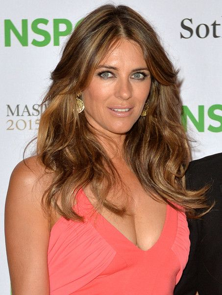 Elizabeth Hurley Photos: Celebrities Arrive at the NSPCC Neo-Romantic Art Gala