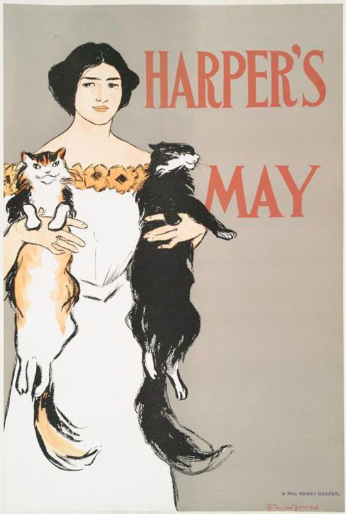 MayAge Magazines, Cat Cravings, Art Prints, Graphics Design, Harpers Magazines, Art Posters, Posters Artists, American Posters, Happy Caturday