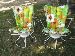 Pair Vintage Homecrest Swivel Rocker Chair Mid Century Modern Patio Outdo With Images Mid Century Modern Patio Furniture Mid Century Modern Chair Vintage Outdoor Furniture