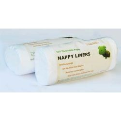 biodegradowalne bibułki do pieluszek wielorazowych 100szt. - super miękkie