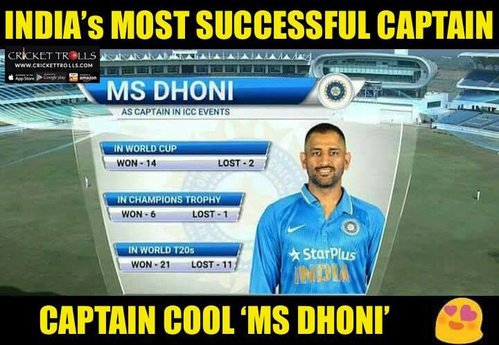 MS Dhoni's captaincy record in ICC events For more cricket fun click: http://ift.tt/2gY9BIZ - http://ift.tt/1ZZ3e4d