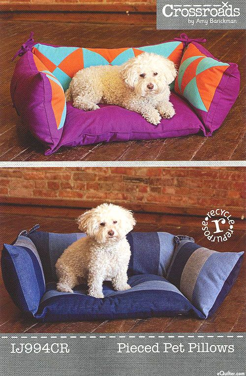 Pieced Pet Pillows - Pattern by Amy Barickman of Indygo Junction