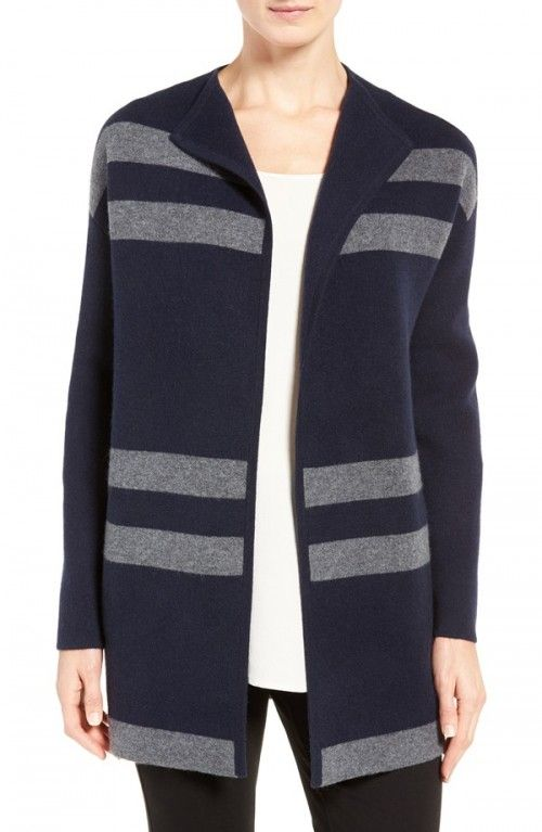 Nordstrom+Collection+Women's+Cashmere+Blend+Double+Knit+Sweater+Coat+|+Clothing