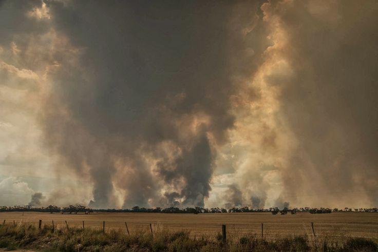 Lake Albacutya fire 15.1.2014