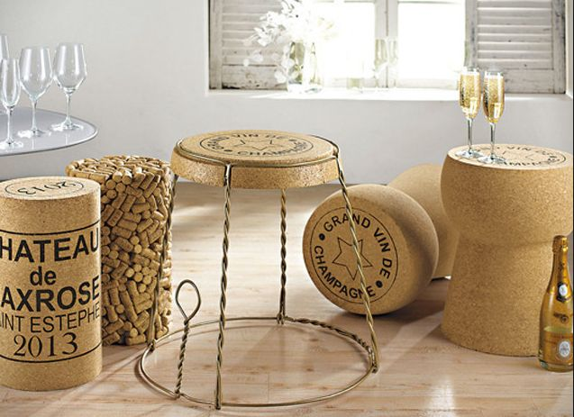 Champagne Cork Wire Cage Side Table   High Concept Furniture Designed After  A Champagne Cork Cage To Use Singly Or In Multiples. Amazing Pictures