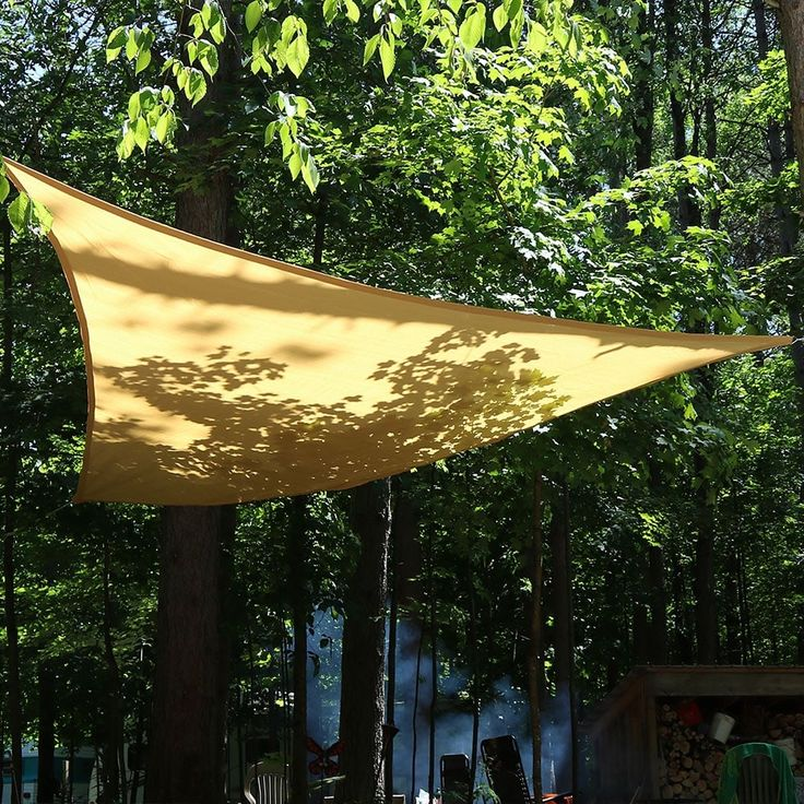 Sunnydaze Beige Triangle Sun Shade Sail - Multiple Options (without hanging hardware - 16.5-foot shade sail) (Assembly Hardware) #LY-207
