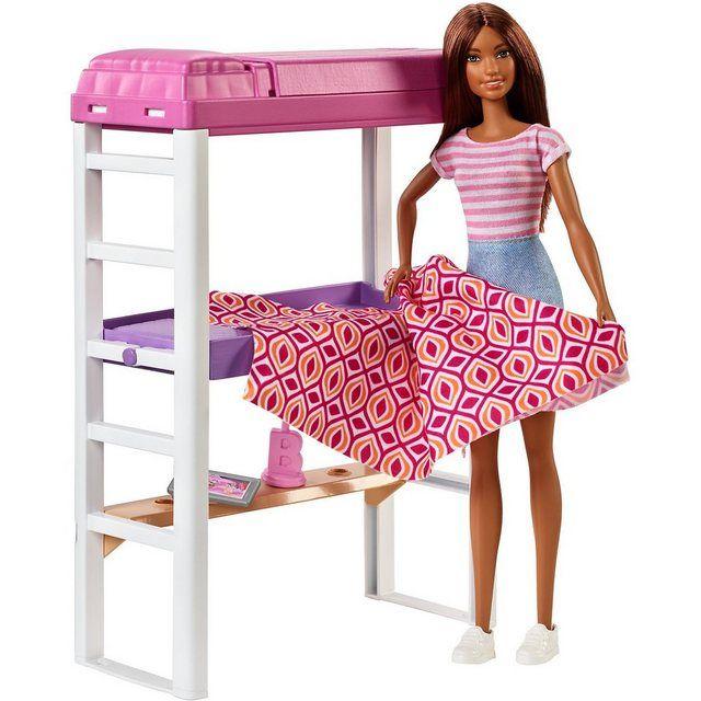 Barbie Deluxe Set Mobel Hochbett Mit Schreibtisch Puppe In 2020