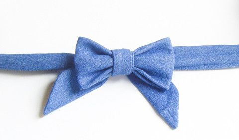 Blue Denim - Handmade Sailor Tie
