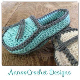 Crochet Le Monde de Annoo: Mocassins de bébé modèle gratuit