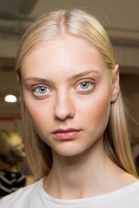 The Vibe: Matte and bronzed  Get the Look: Makeup Artist Cassandra Garcia gave the models at Tibi a warm glow by applying a heavy touch of bronzer to the cheeks.