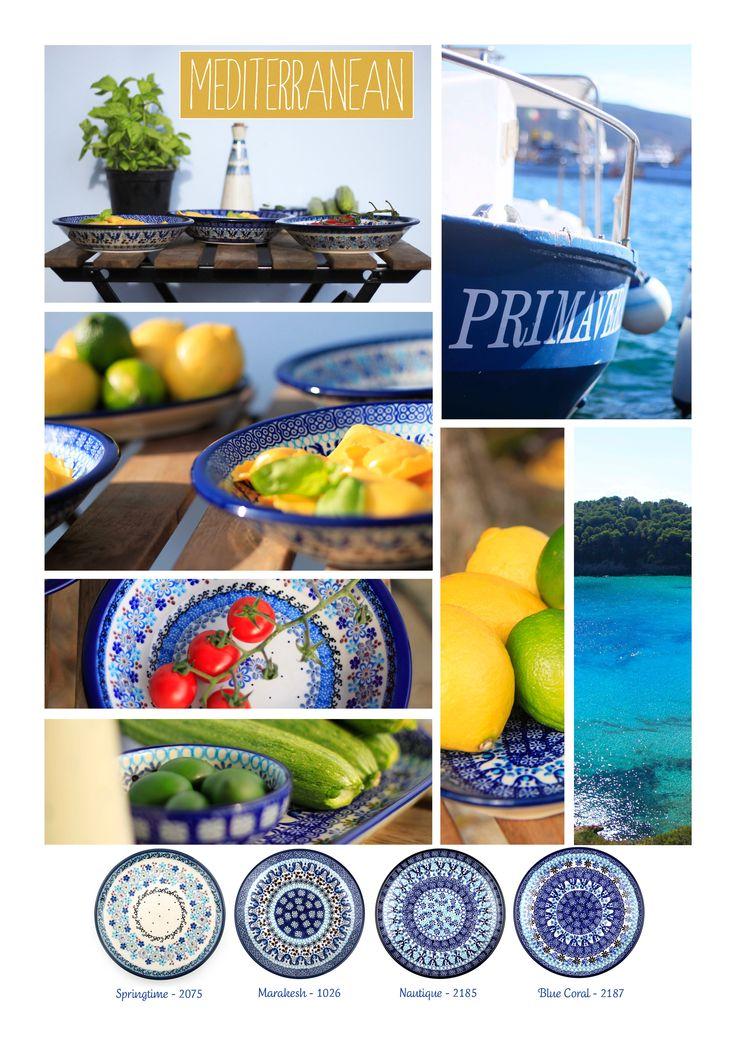 Bunzlau Castle || Mediterranean #Polishpottery #pottery #tableware #home #bunzlau #BunzlauCastle #Stoneware #Bluekitchen #polishblue #Bunzlauservies #kitchen #textile #coffee #tea #teatime #dinner #blue #bake #baking #countrylife #bunzlaucastle #country #blue #blueandwhite #trendy #bohochic #home #handmade #tableware #Mediterranean