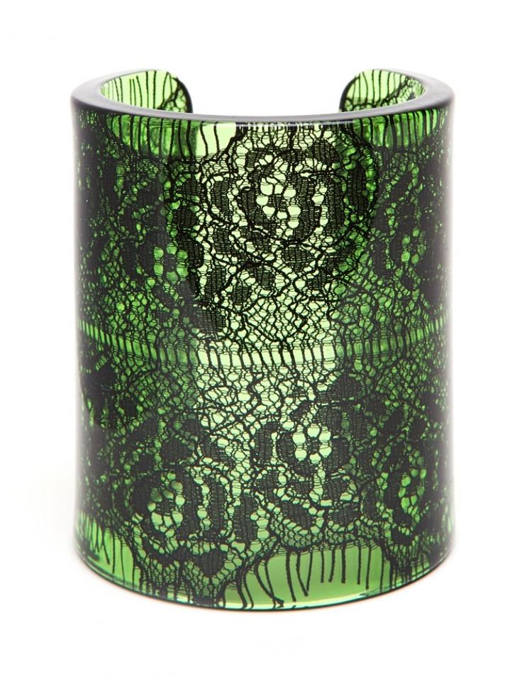 black lace cuff - resin - http://baublebar.com/index.php/black-lace-cuff.html